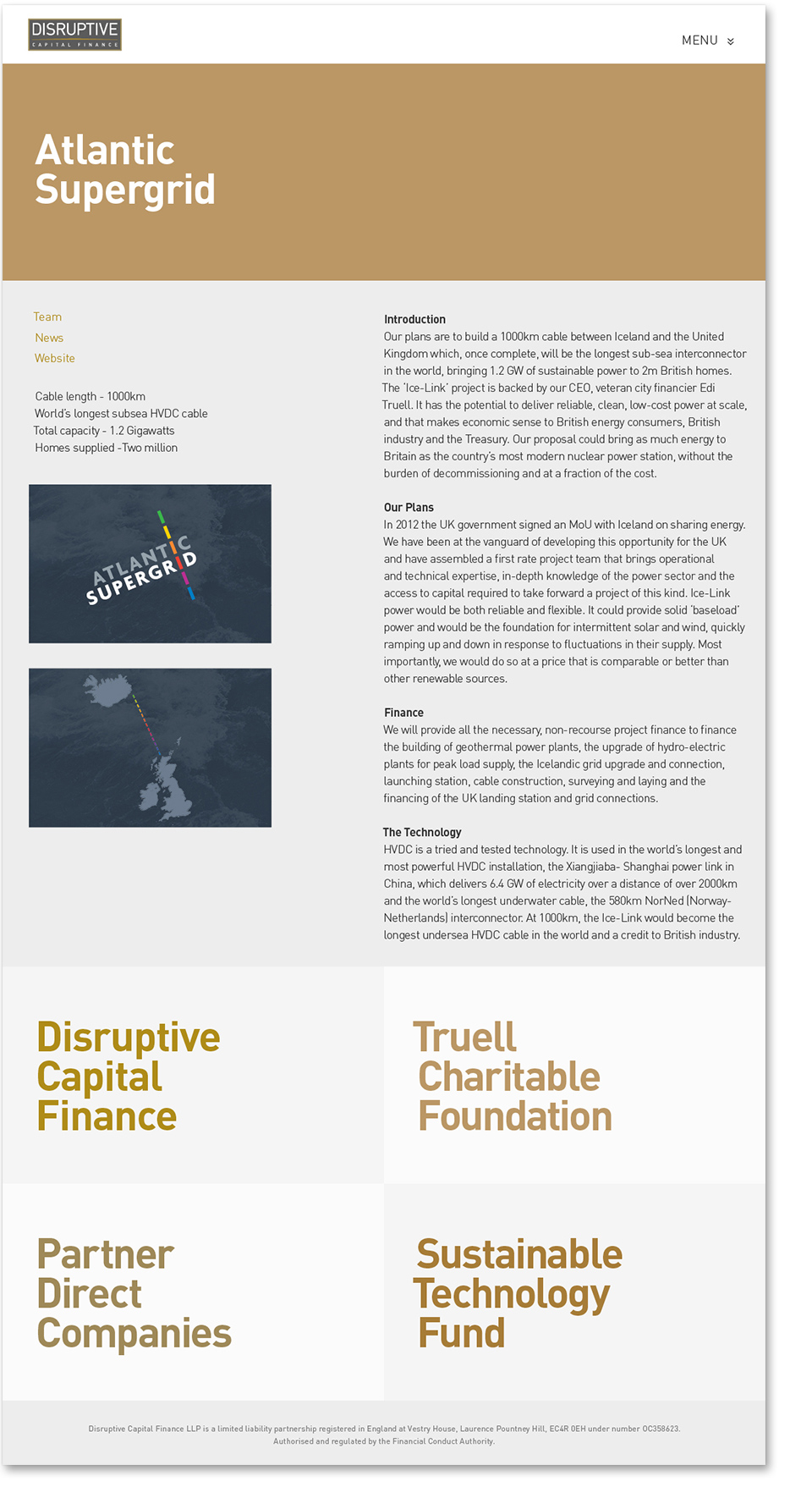DCF site design