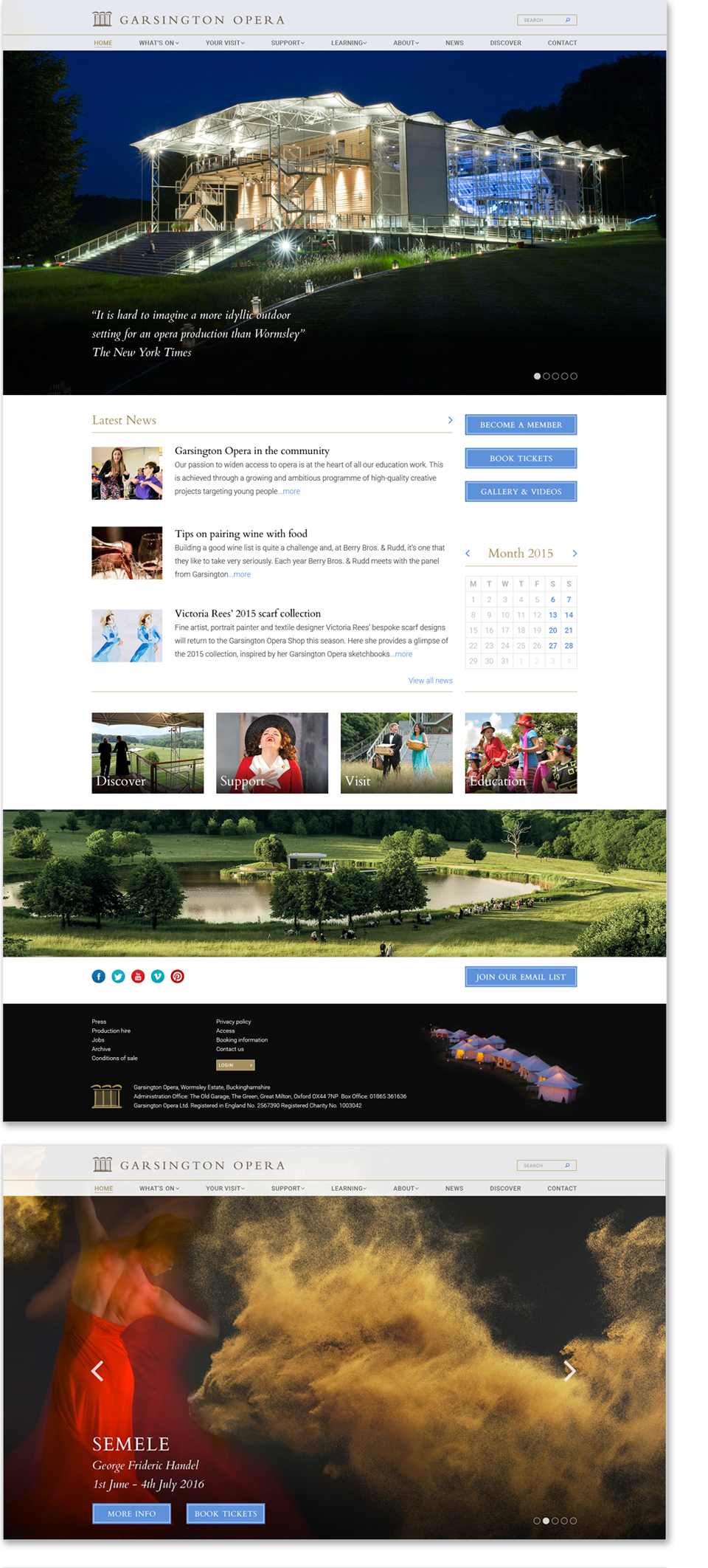 Garsington website design